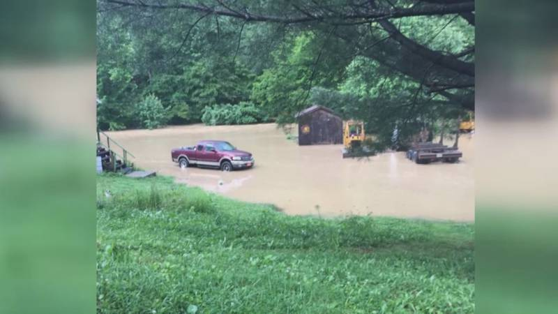 Nine people have been forced to leave their homes due to the flooding. (Source: WAVE 3 News)