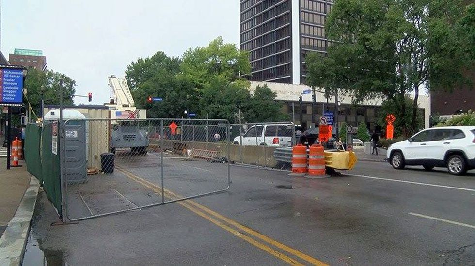 Storms and rain halted MSD repair projects downtown. (Source: WAVE 3 News)
