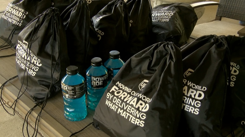 The bags included essentials for Veterans across the community.