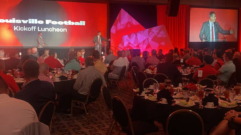 Around 1,000 UofL fans packed into the Galt House for the Cards kickoff luncheon