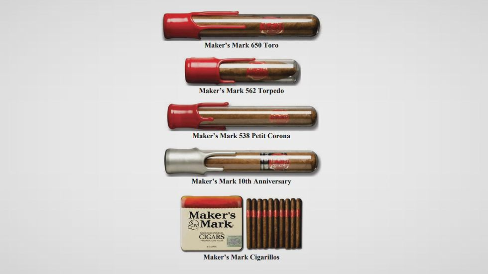 These are what the official Maker's Mark cigars look like.