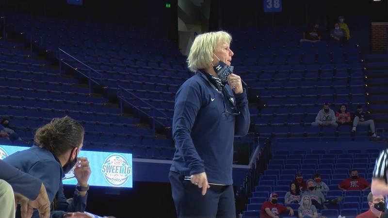 Sacred Heart head coach Donna Moir