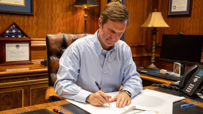 Gov. Andy Beshear announced Thursday afternoon he's signed an executive order allowing student...