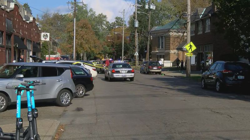 Louisville Metro police secured the 200 block of Highland Ave. after a man was shot to death...