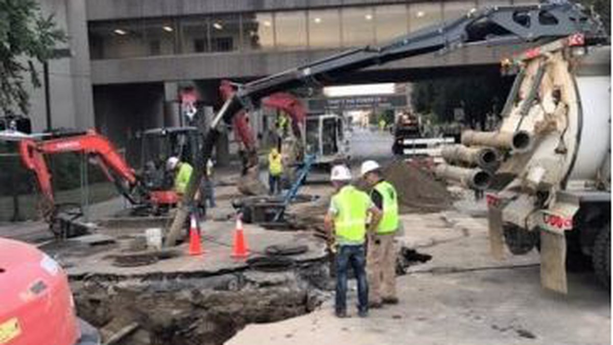 Officials say it will take several days to fully repair (Source: Louisville Water Company)