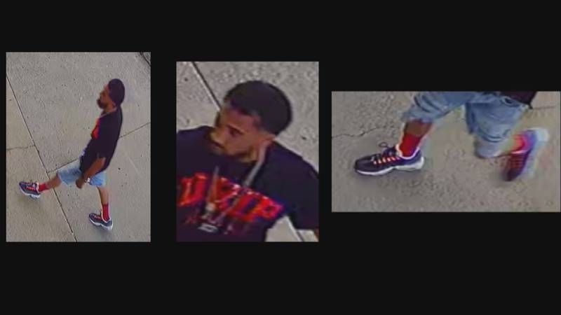 Pictures and videos were released of a person of interest in the case where a man was shot and...