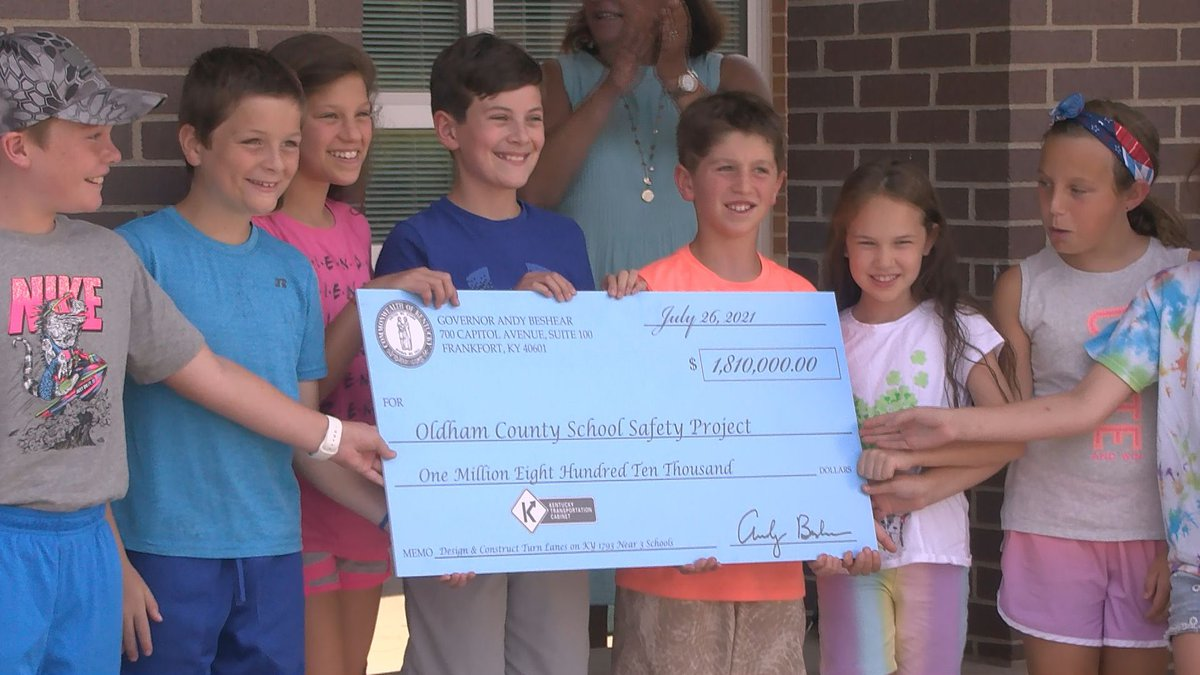 On July 26, 2021, Governor Andy Beshear presented at ceremonial check for $1.81 million for a...