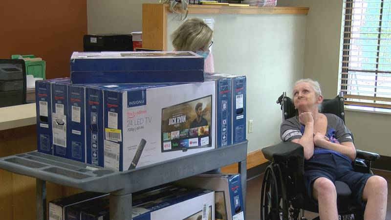 TVs donated by Opal's Dream Foundation to Rolling Hills Healthcare in New Albany