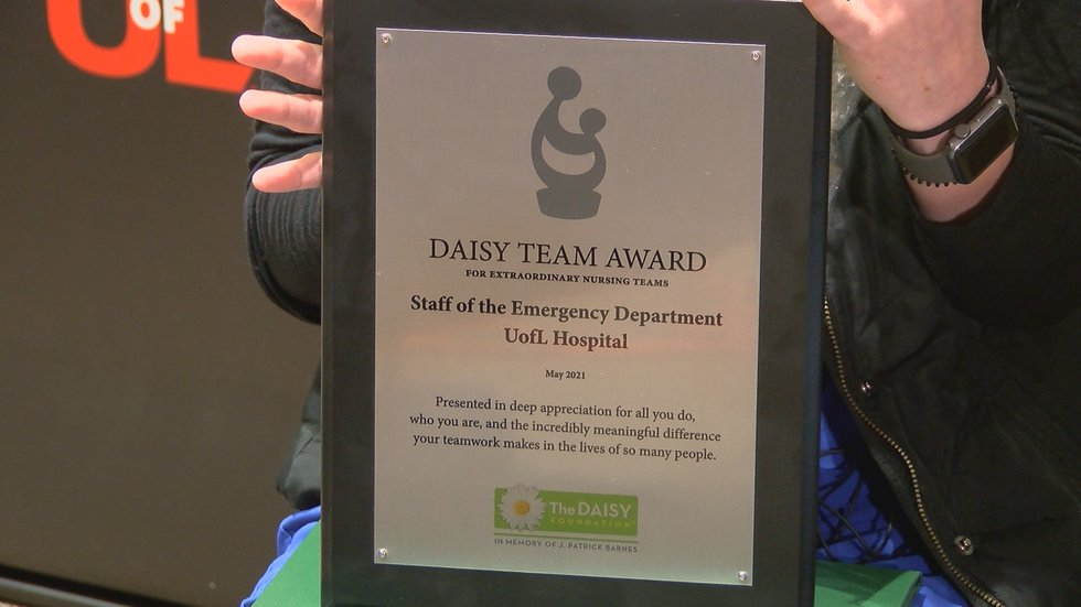 The group was given the Daisy Team Award.