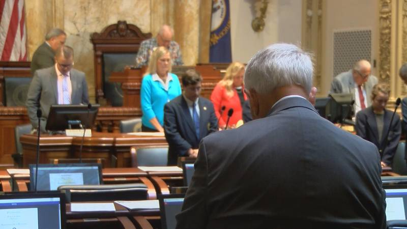 The Kentucky General Assembly is set to recess until mid-April when they would take up vetoes...