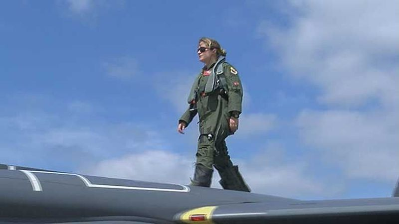 Captain Lauren Hettich is a Louisville native performing in the Thunder Air Show for the first...