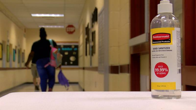 Teachers and staff at Atkinson Elementary School met Monday morning to put the finishing...