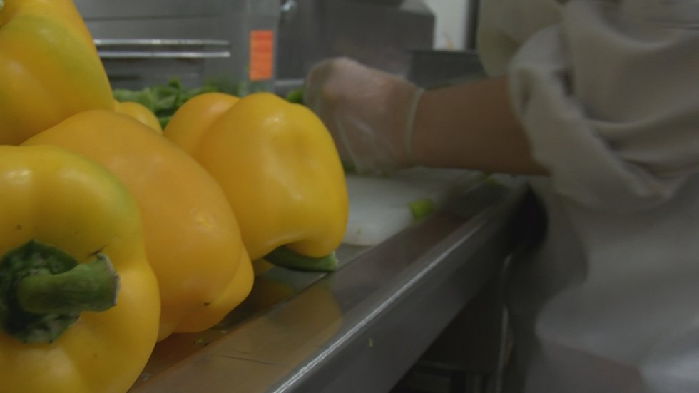 Culinary students from Pennsylvania help prep food at Churchill Downs for Kentucky Derby 147.