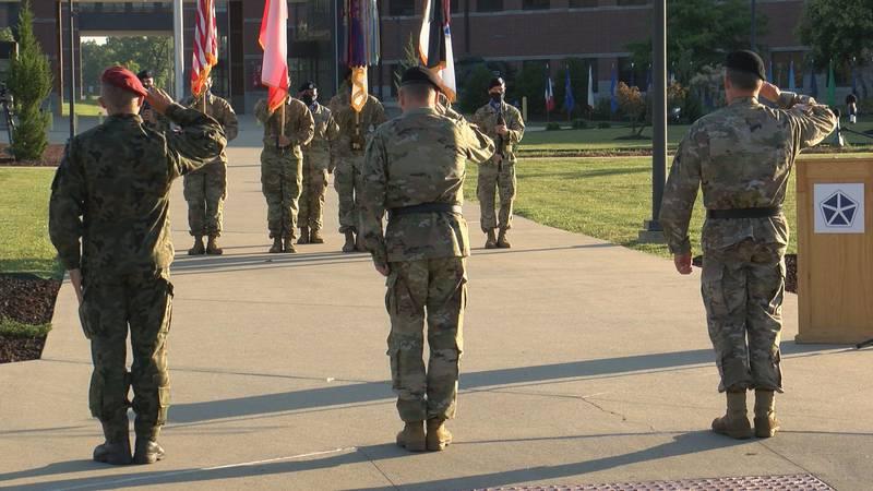 Army Fifth Corps (V Corps) welcomes Polish Maj. Gen. Adam Joks and Brig. Gen. Matthew Van...
