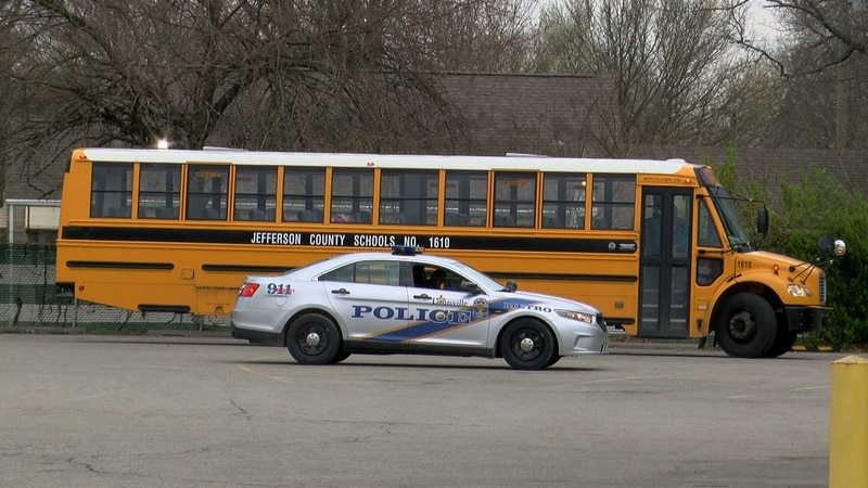 No injuries were reported in a crash involving a JCPS bus on Thursday morning.