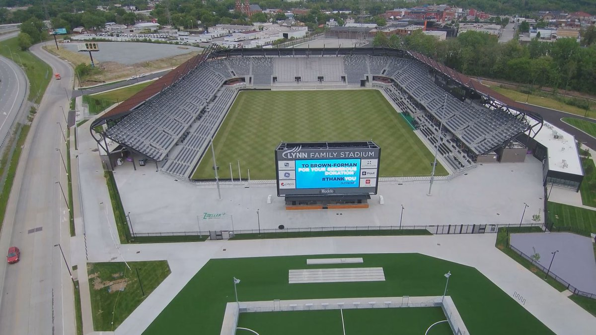 The 11,700 seat Lynn Family Stadium awaits its debut as the home of Louisville City FC.