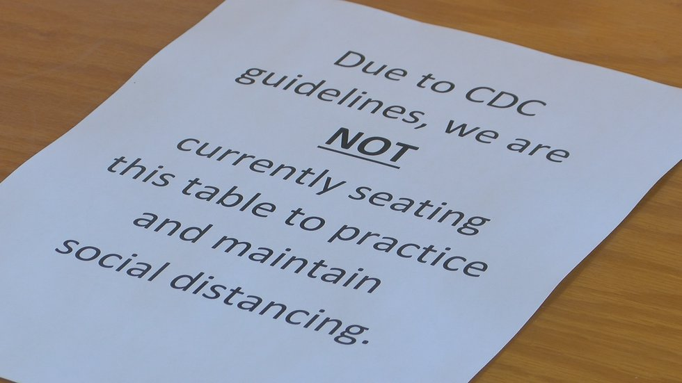 The restaurant is still following CDC guidance.