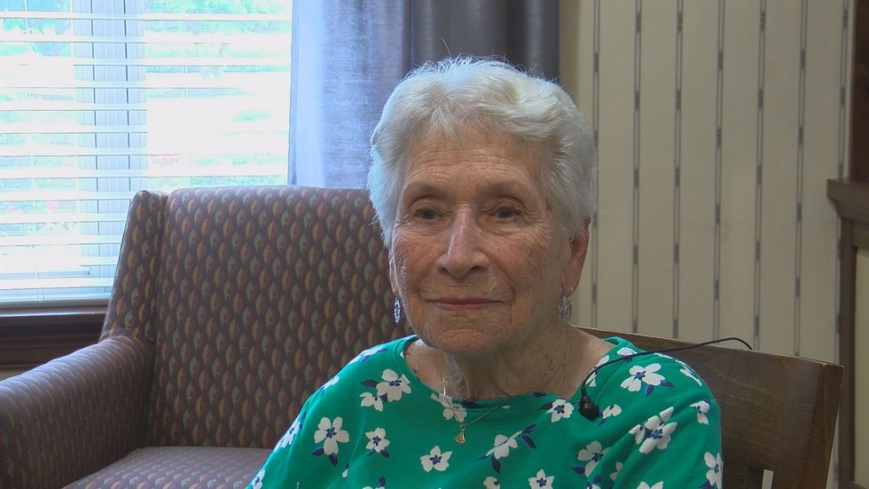Mary Hatfield is a resident at Atria Senior Living Springdale who received the COVID-19 vaccine.