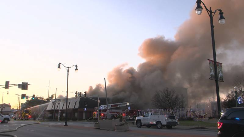 The fire forced the business to relocate.