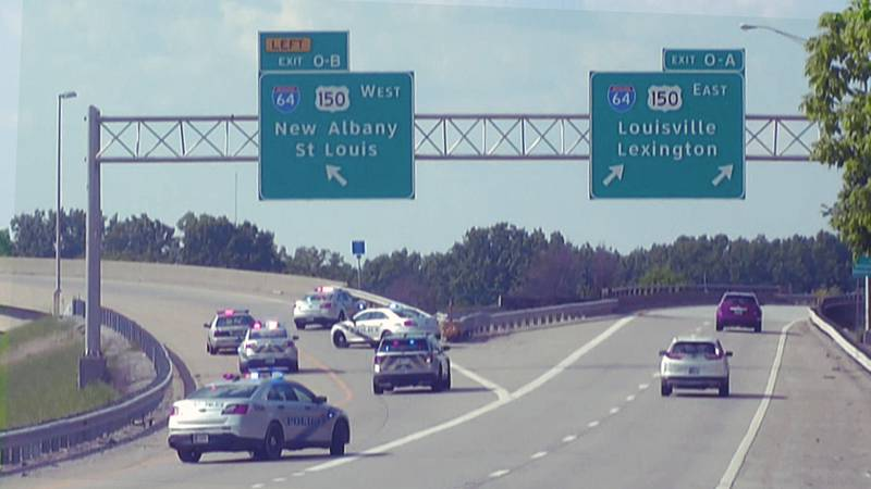 Lanes were shut down from I-264 West from River Park to where it meets I-64 after a shooting on...