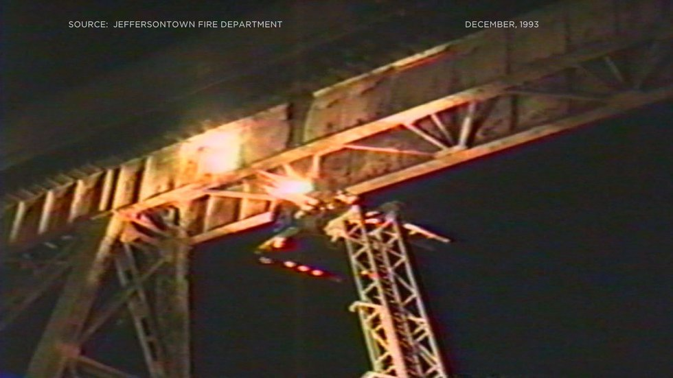 In 1993, a teen survived by clinging to the side of the trestle. (Source: JFD)