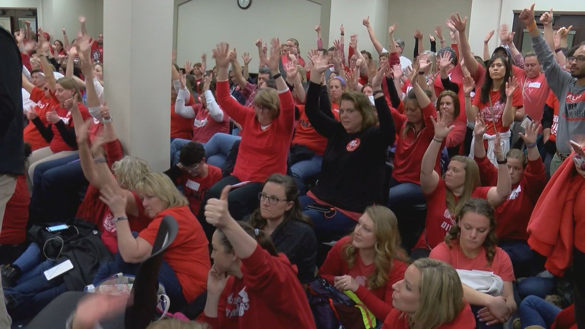 Teachers packed the committee meeting room where House Bill 525 was discussed.