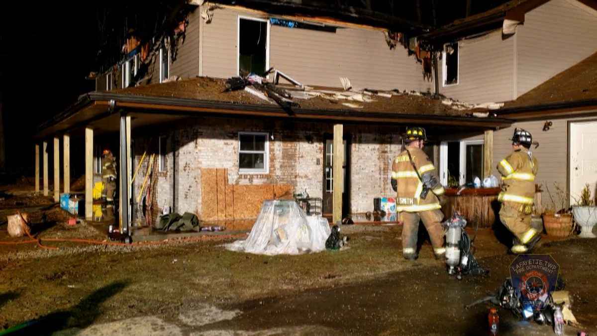 Fire crews responded to a large attic fire on East Riley Road around 6:30 p.m.