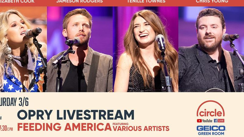 Circle will air another live broadcast from The Opry to help raise money and awareness of food...