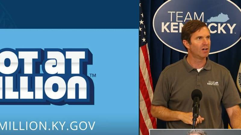 """Governor Andy Beshear announced the winners of the """"Shot at a Million"""" drawing."""