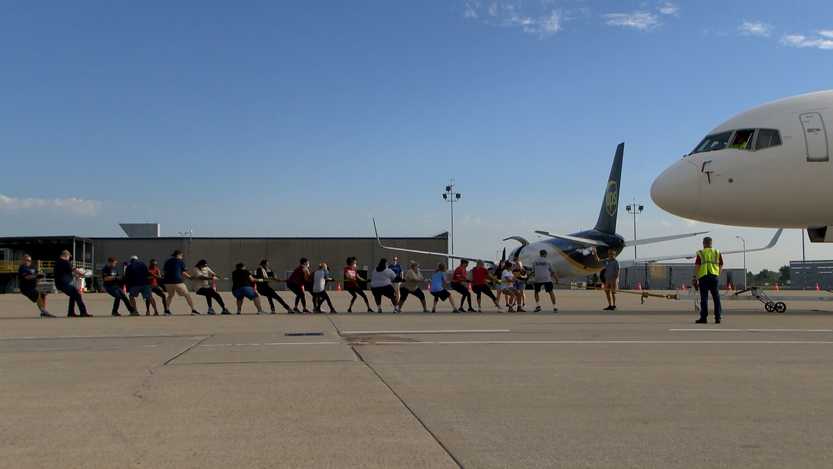 After missing last year's competition, tug-of-war teams returned to UPS Worldport Saturday...