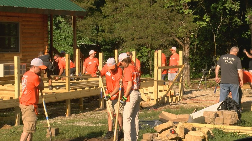 Three hundred volunteers from Home Depot rolled up their sleeves and got to work Wednesday...