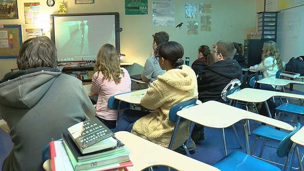 Students at Elizabethtown High School watched a training video Thursday on school shootings....