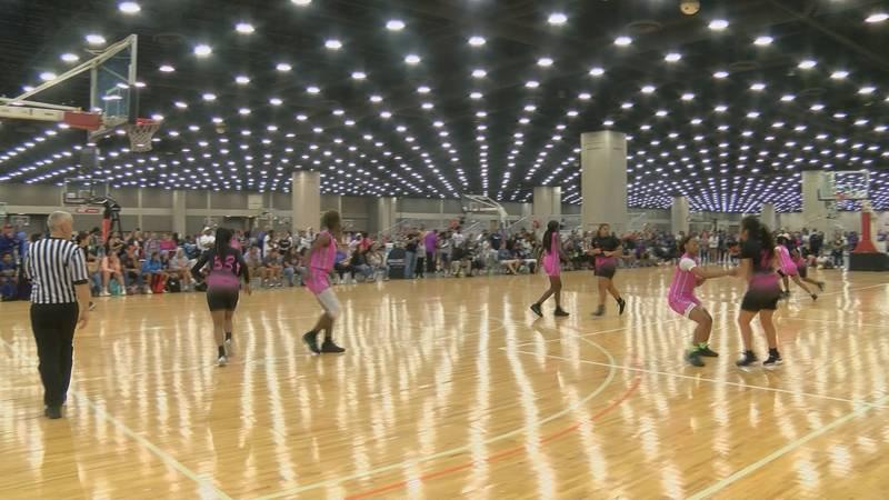 The Battle in the Boro girls basketball tournament.