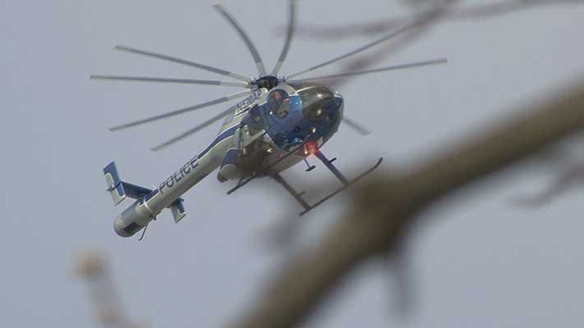 LMPD's helicopter flew over the scene Wednesday afternoon. (Source: WAVE 3 News)
