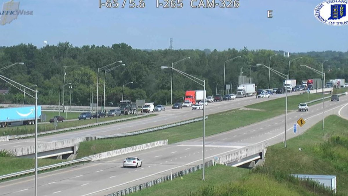 The westbound lane of I-265 was shut down to traffic after a fatal crash in Clarksville.