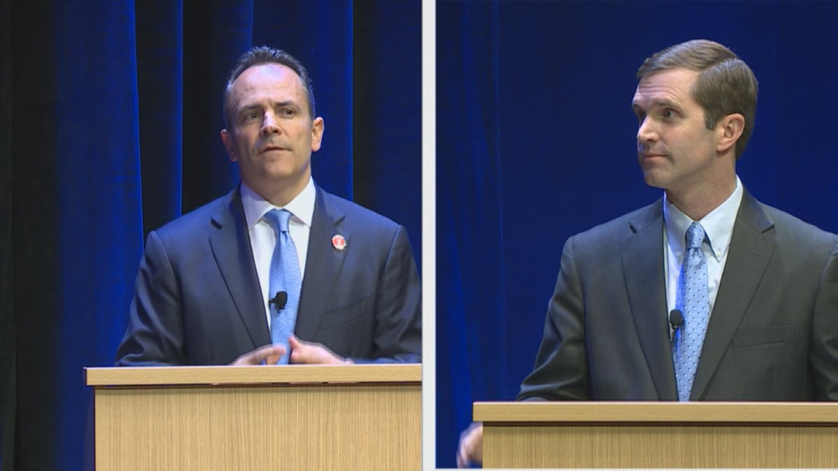 Matt Bevin and Andy Beshear are in a dead heat at 46 percent among registered Kentucky voters,...