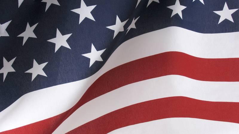 Waving American Flag USA Background