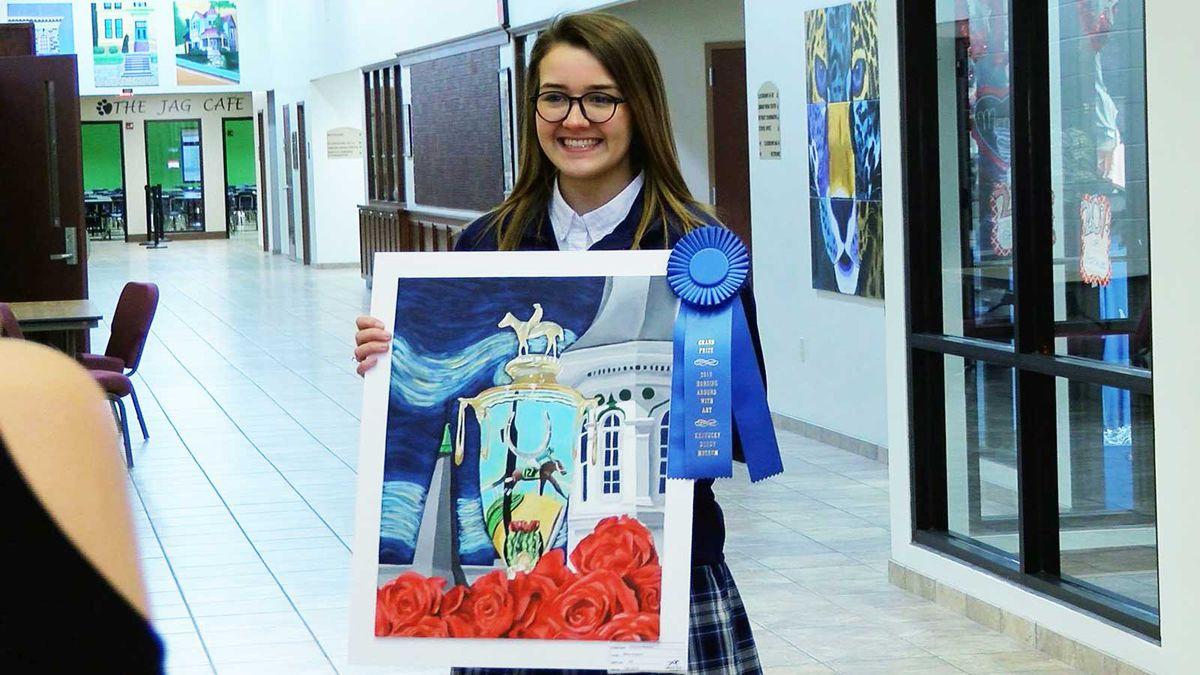 McKayla Rakestraw, a Mercy Academy junior, won the Horsing Around with Art contest.