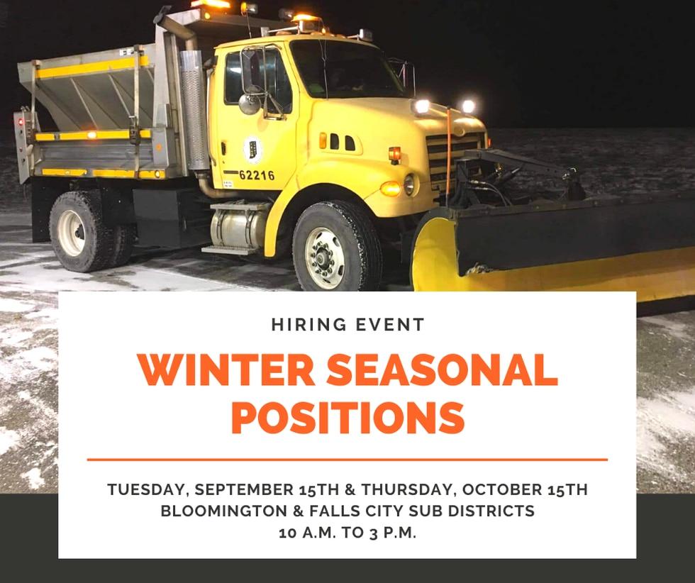 Winter seasonal positions run from November through March.