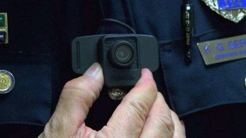 A body camera worn by an LMPD officer. (Source: WAVE 3 News)