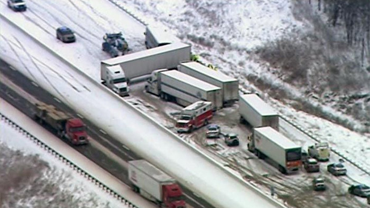 Interstate 65 was a parking lot for several hours on Tuesday following a multi-vehicle accident...