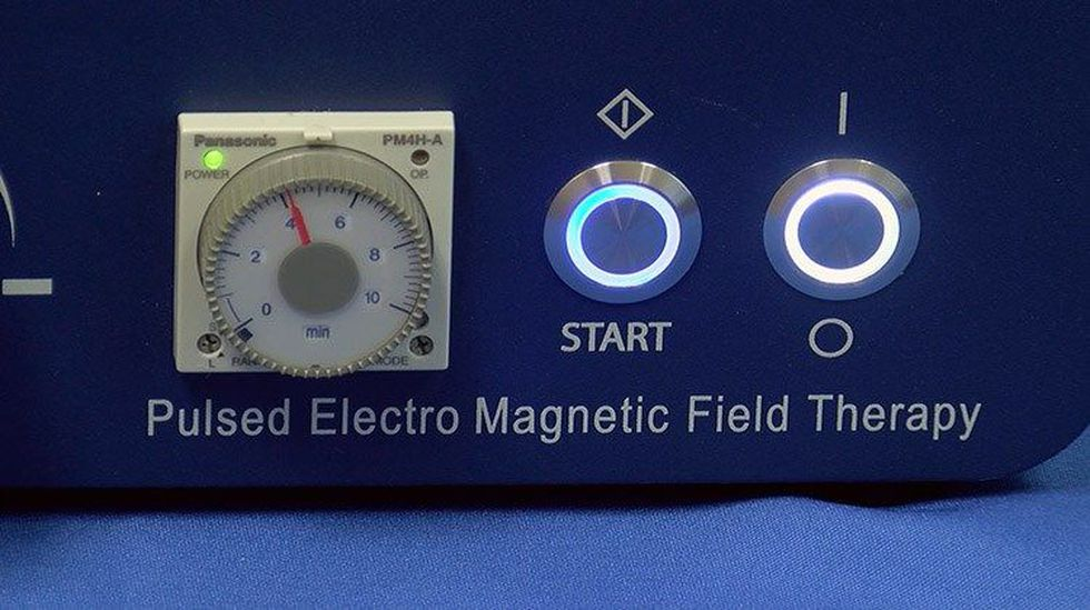 """MAGNA Wave is """"pulsed electromagnetic field therapy,"""" according to its creator. (Source: WAVE 3..."""