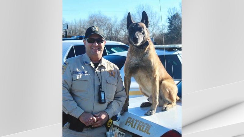 K9 Willie had retired from office and had partnered with K9 Deputy Jerry Hardin.