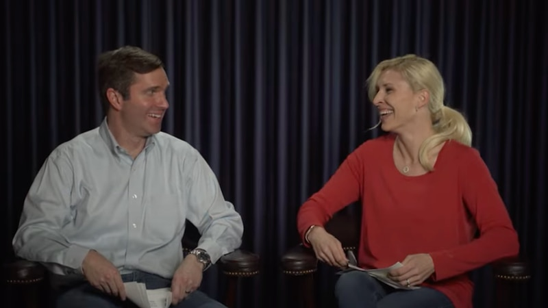 Gov. Andy Beshear and First Lady Britainy Beshear read 'mean' tweets.