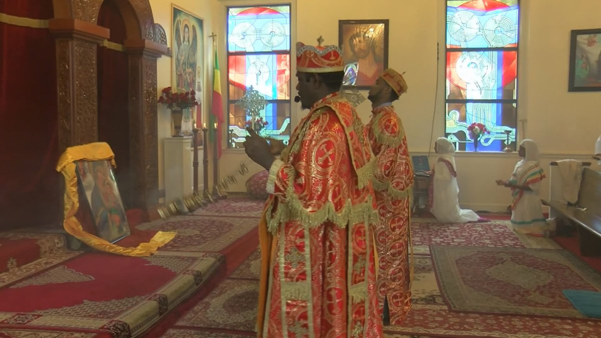 The Ethiopian Orthodox Tewahedo Church draws people from across the country to its services.