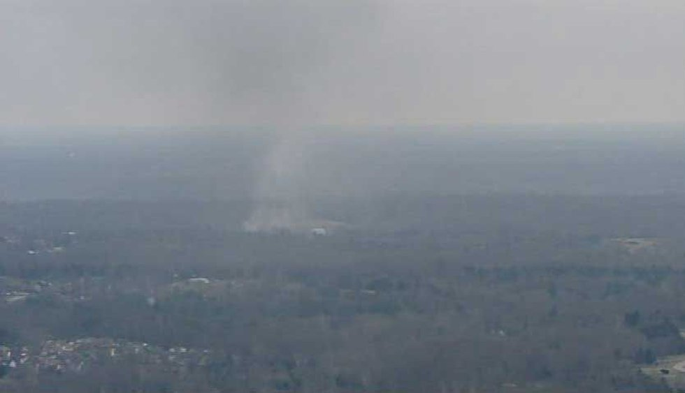 Smoke from the semi fire was visible from miles away.