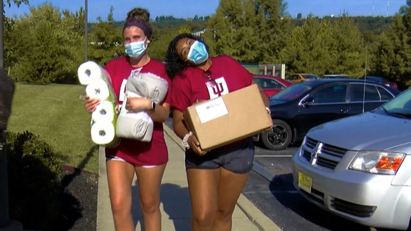 Wednesday was a big day for IU-Southeast students as they moved in on campus.