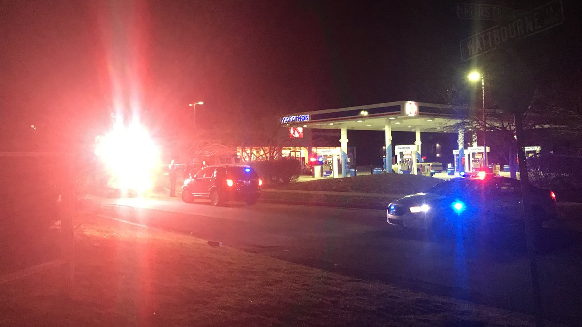 The suspects were found in a tree line behind the Meijer on Hurstbourne Lane.