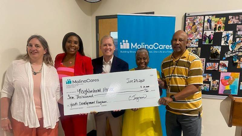 MolinaCares Accord presents $10,000 check to the Neighborhood House Program for West Louisville...