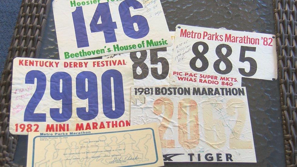 Mark Miller used to run marathons in under three hours.